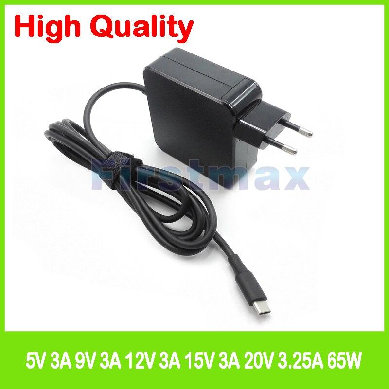 65 w USB-C type C ac puissance adaper portable chargeur pour Lenovo Yoga Livre ZA0V ZA15 Yoga A12 ZA1Y 730-13IKB 920-13IKB C930-13IKB