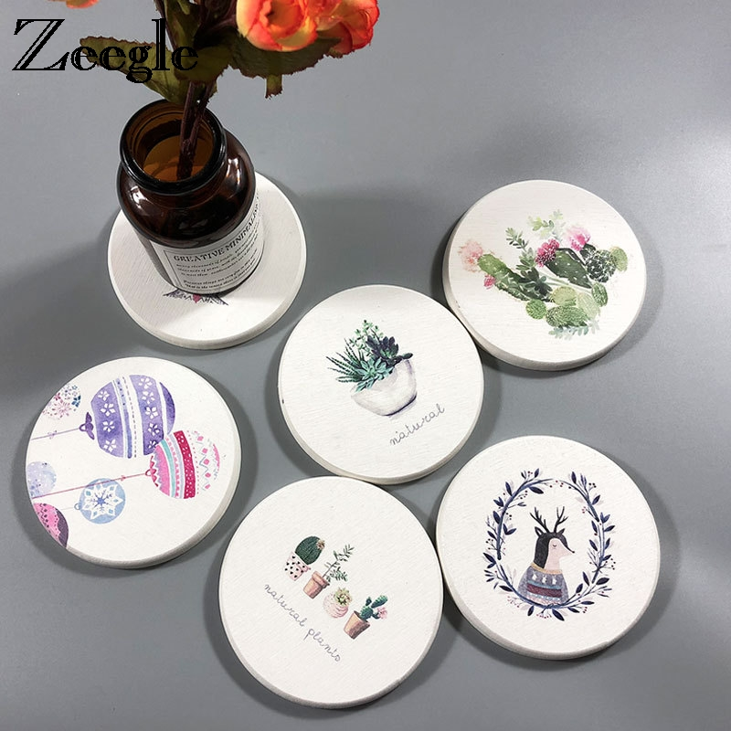 Detail Feedback Questions About Zeegle Diatom Mud Bar Coaster Table Cup Holder Wine Drink Placemat Mat Tabletop Mug Coffee Tea Absorbent Pads On