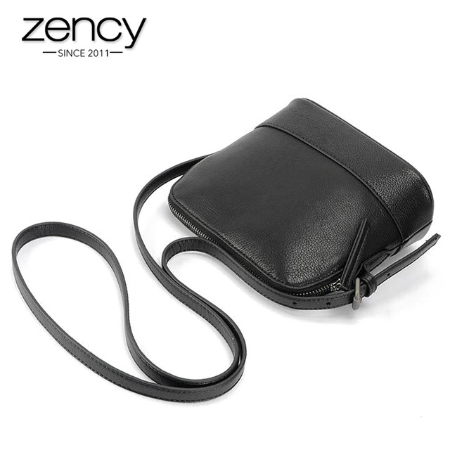 2017 Classic Famouse Brand Shell Quality Natural Genuine Leather Black Women Small Messenger Bags Ladies Handbag Shoulder Phone