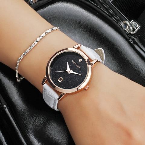 SANDA brand quartz watch ladies waterproof leather watch watch fashion romantic woman watch Relogio Faminino Multan