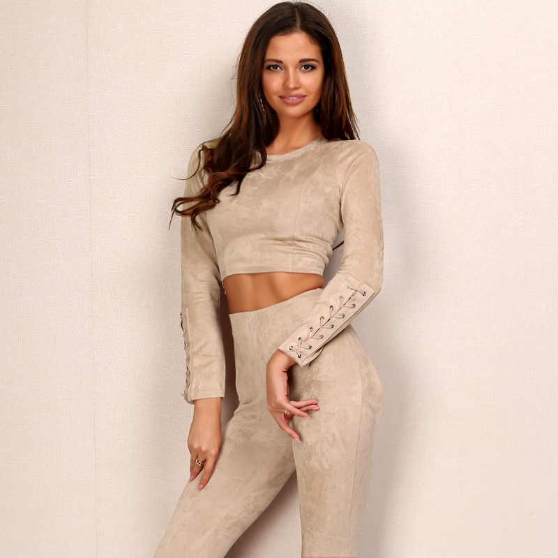 Suede Hollow Out Back Bandage Jumpsuit Romper
