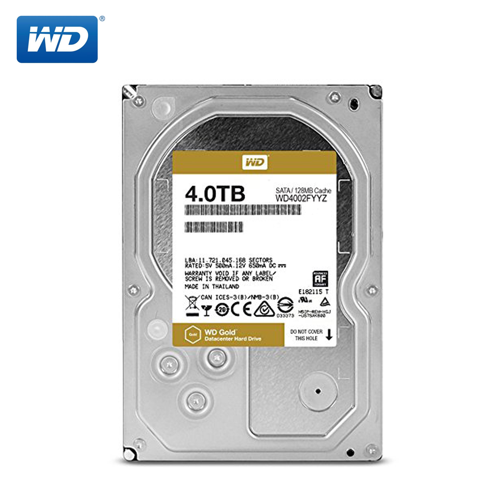 Western Digital Gold NAS Hard <font><b>2TB</b></font> 4TB 6TB 8TB Enterprise Hard Drive Network Storage 3.5' 7200RPM SATA3 <font><b>HDD</b></font> 6Gb/s image