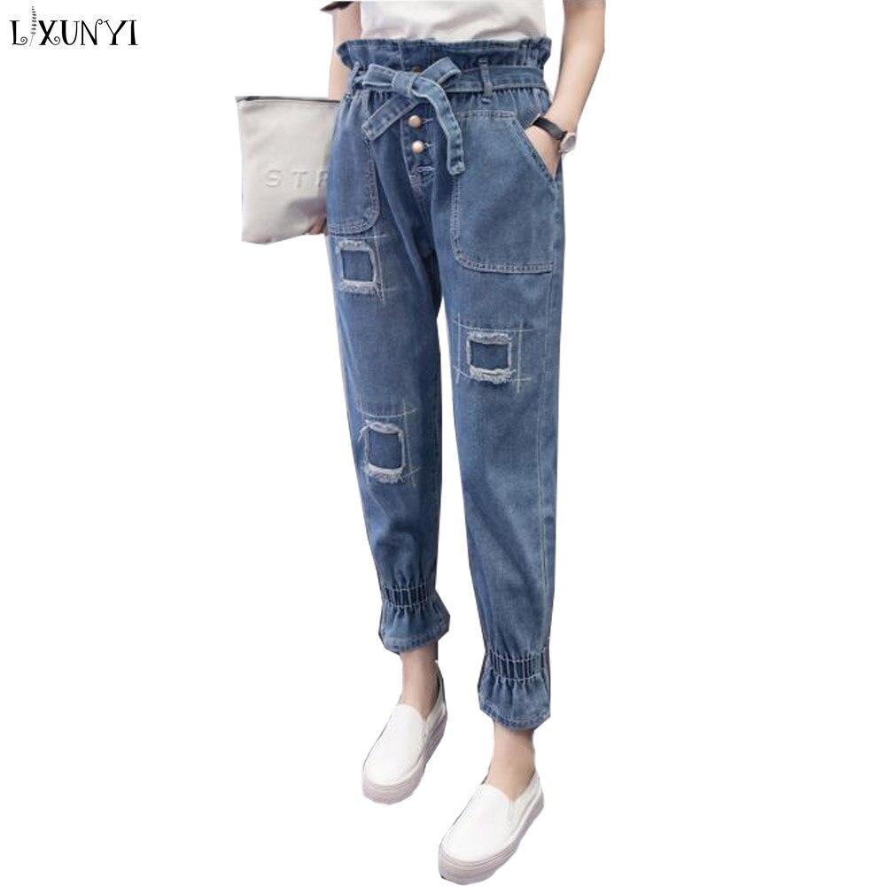 Guuzyuviz Casual Autumn Winter Jeans Women Plus Thick Velvet Plus Size Denim Pants Patch Work Calca Jeans Feminina Women's Clothing Jeans
