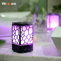 Wrumava 7 Color LED Night Light 200ML Water Cube Aroma Diffuser Ultrasonic Air Humidifier Desk Lamp