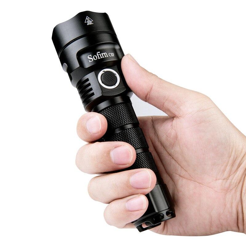 Sofirn Nouveau C8F 21700 Version Puissant lampe de poche led Triple Réflecteur Cree XPL 3500lm torche super lumineuse avec 4 Groupes Rampe - 3