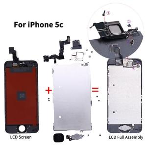 Image 3 - Aaa + + + 液晶iphone 5 5C 5s、se 6 7 8プラスタッチスクリーンガラスディスプレイlcdデジタイザ交換 + フロントカメラ + 耳スピーカー