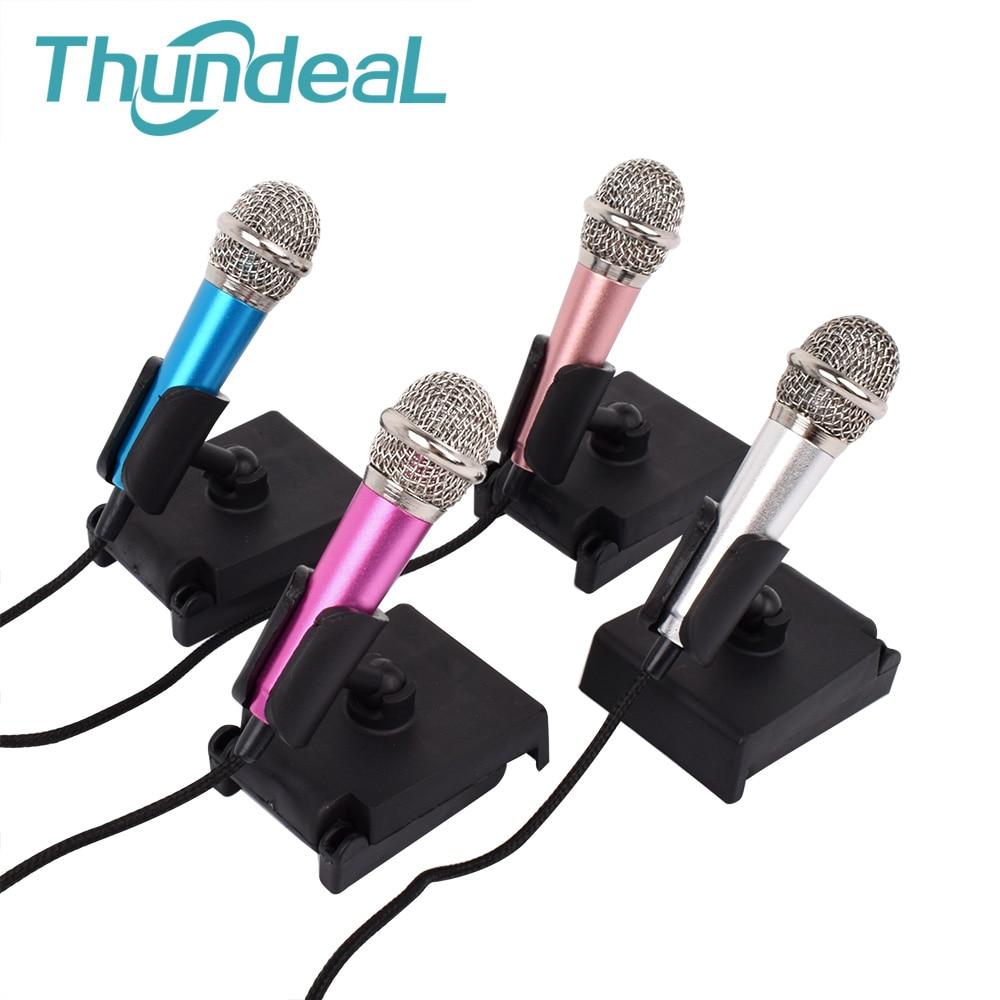Metal Mini 3.5mm Jack AUX Studio Professional Microphone Handheld Karaoke Mic Audio Microphone For Mobile Phone Computer Desktop