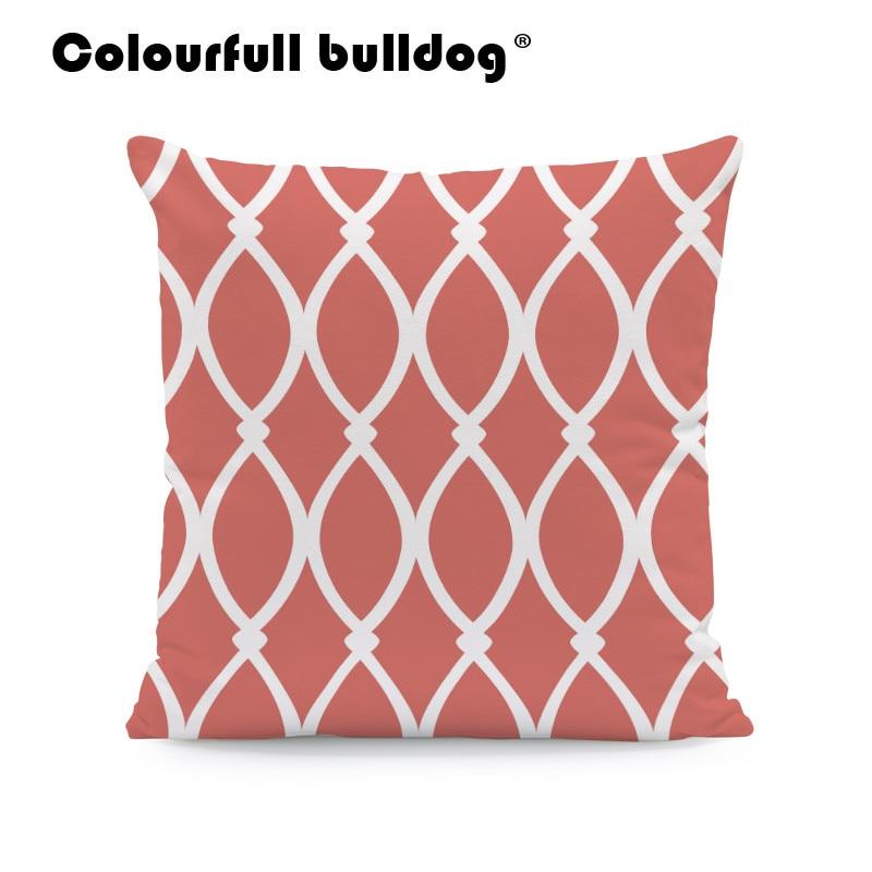 Diamond Line Cushions Love Quatrefoil Pillow Covers Orange Wave Cartoon Backyard Baby Birth Gifts Pillowslip Covers 45Cm Velvet