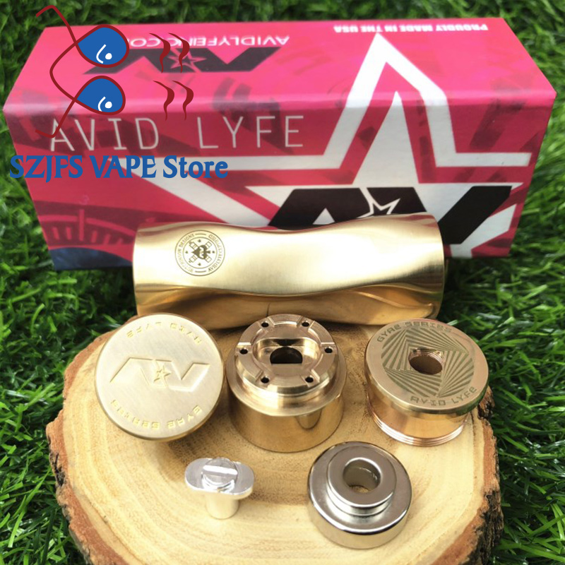 Newest AV Twistgyre Mod Kit 18650 Battery 510 Thread 25mm Diamater Connection Mech Mod Brass Material Mechanical Mod Vape Mod