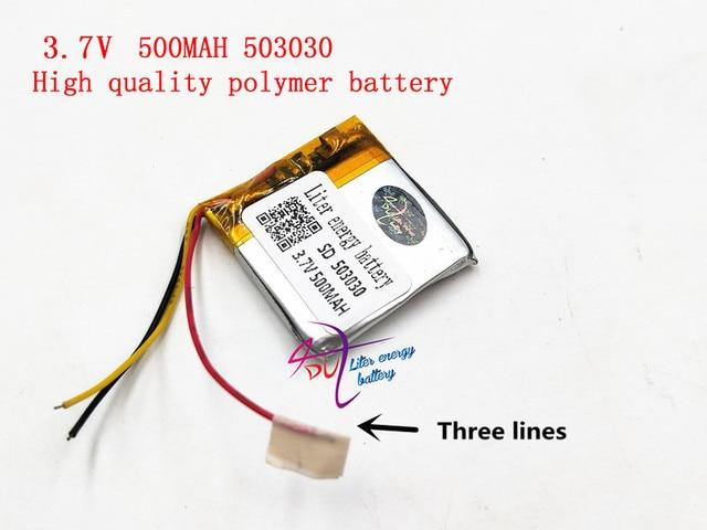 3 линии 3,7 В 500 мАч 503030 литр энергии аккумулятора умный дом MP3 динамики литий-ионный аккумулятор для dvr, gps, mp3, mp4, мобильный телефон, динамик