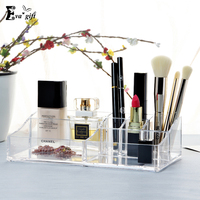 Acrylic Cosmetic Organizer Clear Makeup Jewelry Cosmetic Storage Display Box Acrylic Case Stand Rack Holder Organizer
