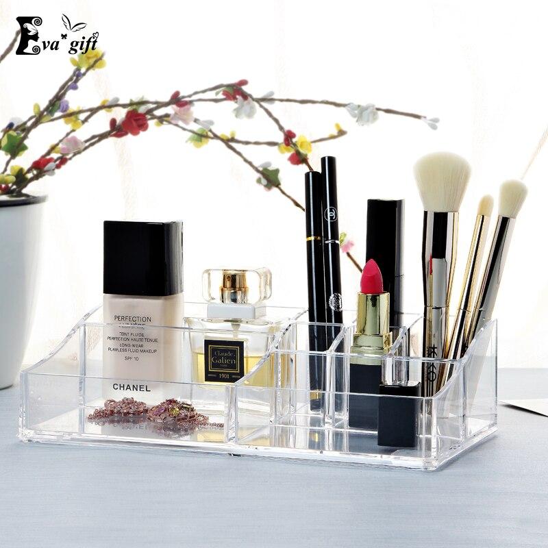 crystal acrylic cosmetic box organizer makeup jewelry storage lipstick make up brush holder display box - Stand Up Jewelry Box