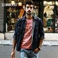 SIMWOOD Новое Прибытие 2017 Весна Лето Случайные Рубашки Мужчины Мода Хлопок и Лен Ткань Природы CS1573