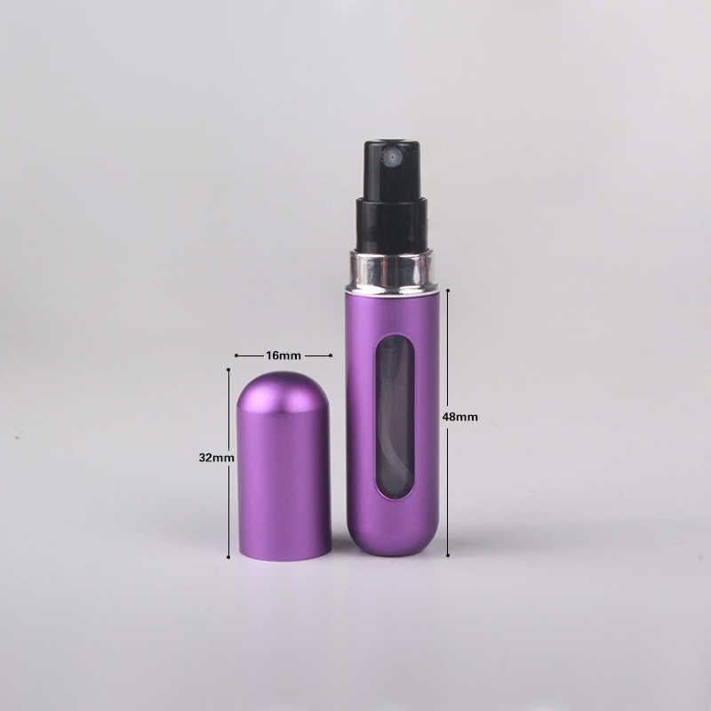 MUBTF - 5ml doldurulabilir Mini parfüm sprey şişesi alüminyum sprey Atomizer taşınabilir seyahat kozmetik konteyner parfüm şişesi