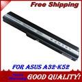 аккумулятор для For Asus a32-k52 A31-K52 A32-K52 A41-K52 A42-K52 A52J K42F K42JR K52JC K52Jr A52F K42 K52f K52JE K52jr