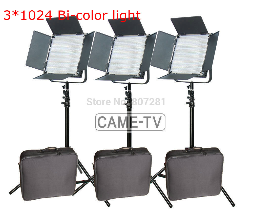 Tv Studio Verlichting Us 1469 Came Tv Hoge Cri Bi Color 3x1024 Led Video Lichten Studio Tv Verlichting Gratis Tas In Came Tv Hoge Cri Bi Color 3x1024 Led Video