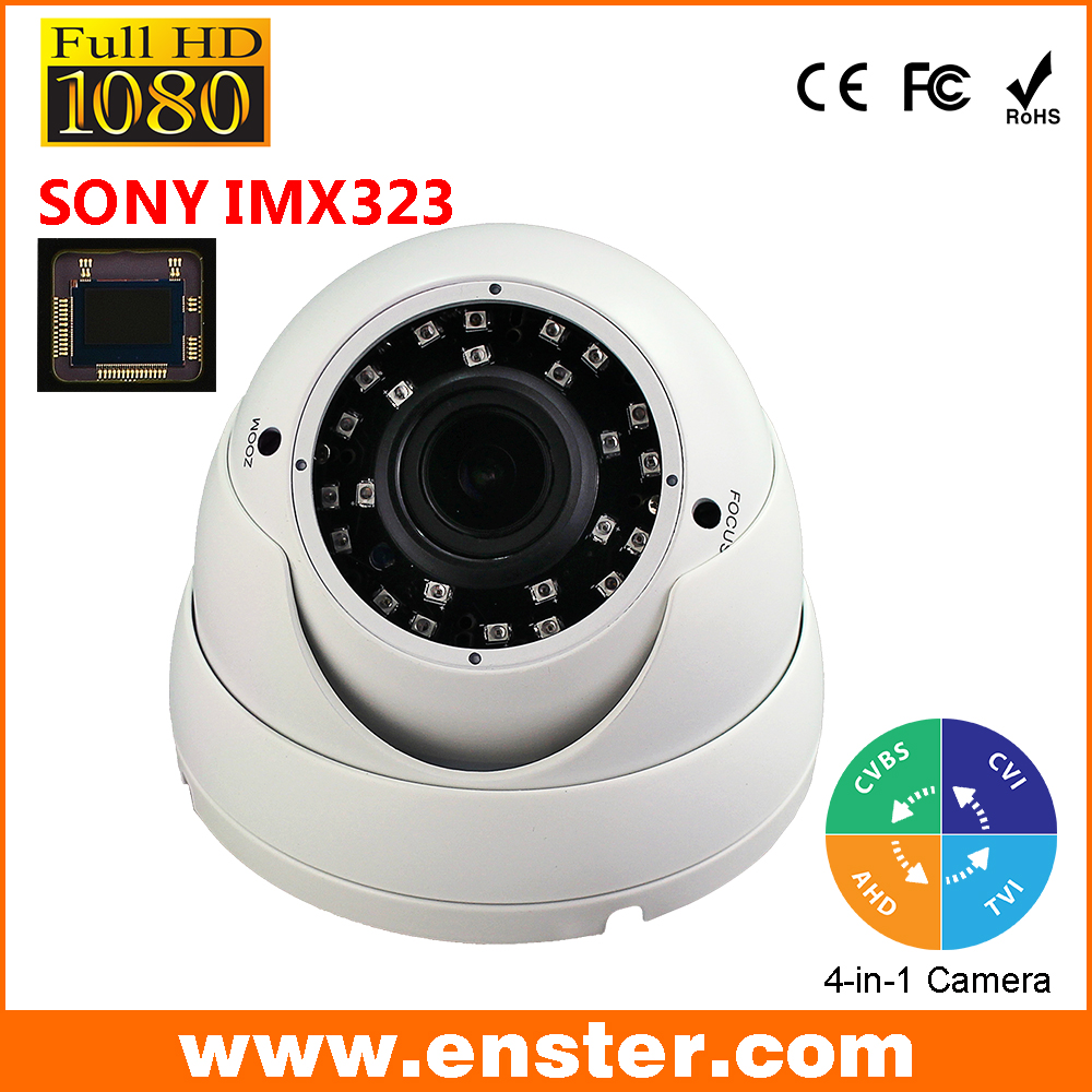 "Free shipping 1080P Full-HD IP66 Waterproof  Dome AHD Camera 1/2.8"" SONY CMOS  Surveillance product Varifocal lens Camera от Aliexpress INT"