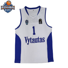 43dec19bf5a4 2018 New Elastic Mens Basketball Jerseys LaMelo Ball  1 Lithuania Vytautas  White Basketball Throwback Stitched Jersey For Sale