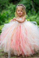 Cute Child Tulle Ball Gowns Spaghetti Straps Curved Sweetheart Sleeveless Wedding Organza Puffy Dresses for Flower Girls 2017