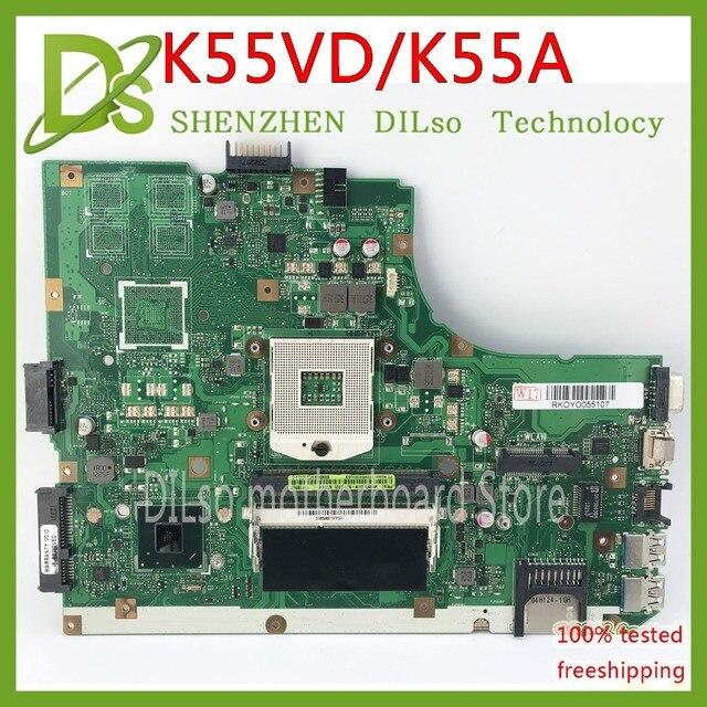 KEFU K55A For ASUS K55VD K55A motherboard REV3.1 without video card  K55A Laptop motherboard original board 100% Test work