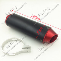 38MM CNC Alloy Exhaust Muffler with Clamp for XR50 CRF50 Coline Style Chinese Pit Bike dirt bike motorcycle Red
