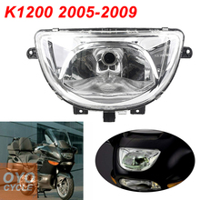 For 05-09 BMW K1200 K 1200 Motorcycle Front Headlight Head Light Lamp Headlamp Assembly CLEAR 2005 2006 2007 2008 2009