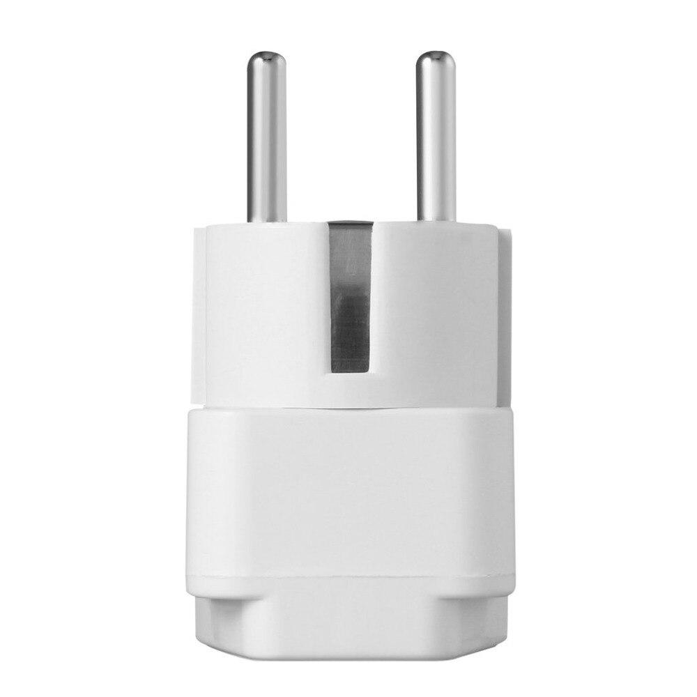 Universal Adapter Electrical Plug For AU US UK To EU AC Power Plug Travel Home Socket Converter Adapter White Drop ship