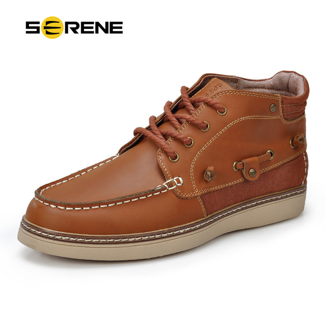 69f9245673f6aa RUHIGE Marke Männer Boot Top-qualität herren Lederschuhe Britischen Stil  Lace-up Schuhe Männer