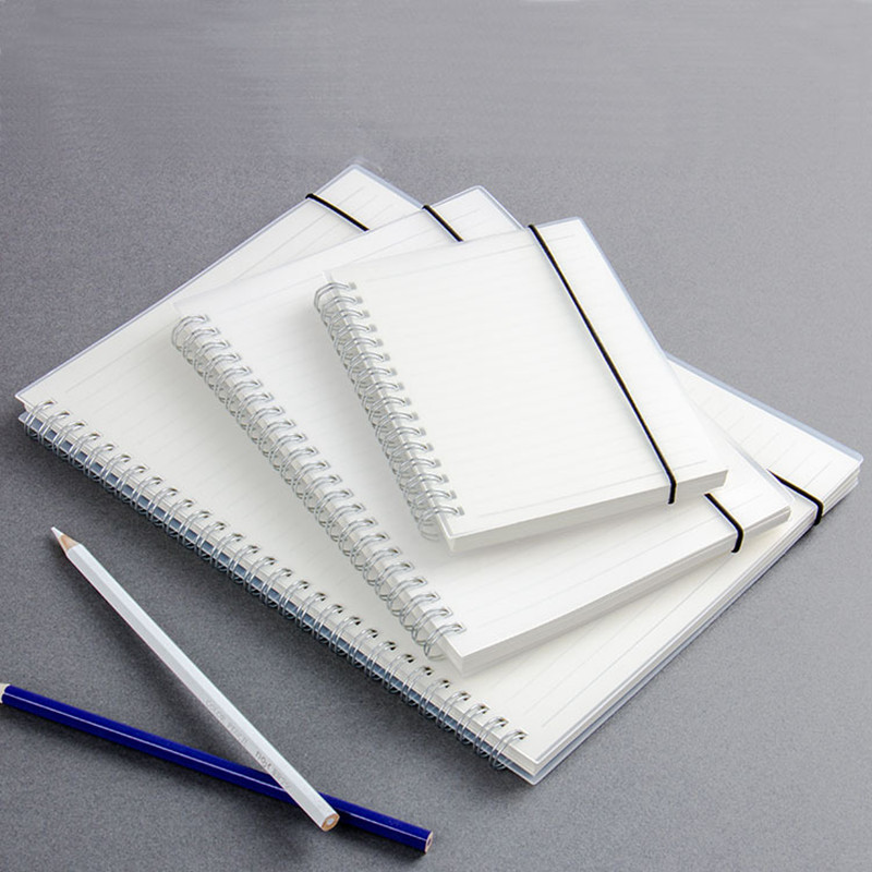 New Spiral Notebook Notepad A5 A6 Simple PVC Cover notebook with Rings Kraft Dot Grid Blank Line Daily Planner School Supplies 2017 new arrives business brief fashion spiral notebook pvc cover a6 a5 b5 line note 80p school office supplies