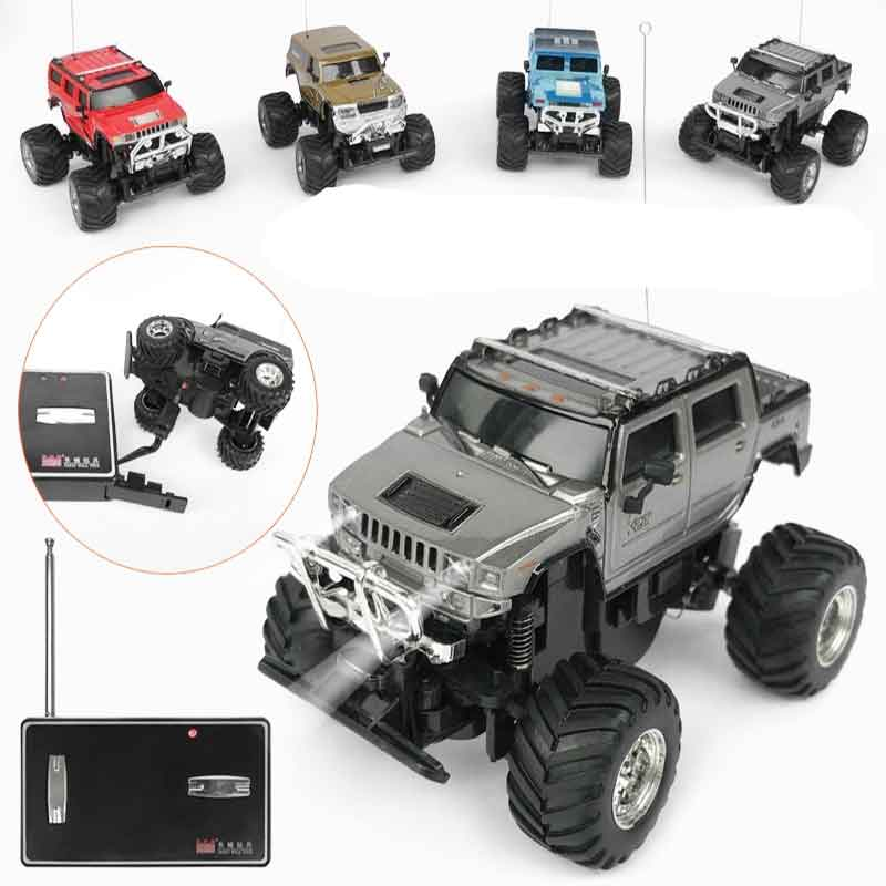 1pcs MINI RC Car 2207 Can Be Charged 1:58 Off-road Vehicle for Children RC Car High Speed Car LED Light Vehicles Gift Toy