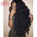 7A Peruvian Deep Wave With Frontal Closure Peruvian Virgin Hair Deep Wave 13*4 Ear To Ear Full Lace Frontal Closure With Bundles