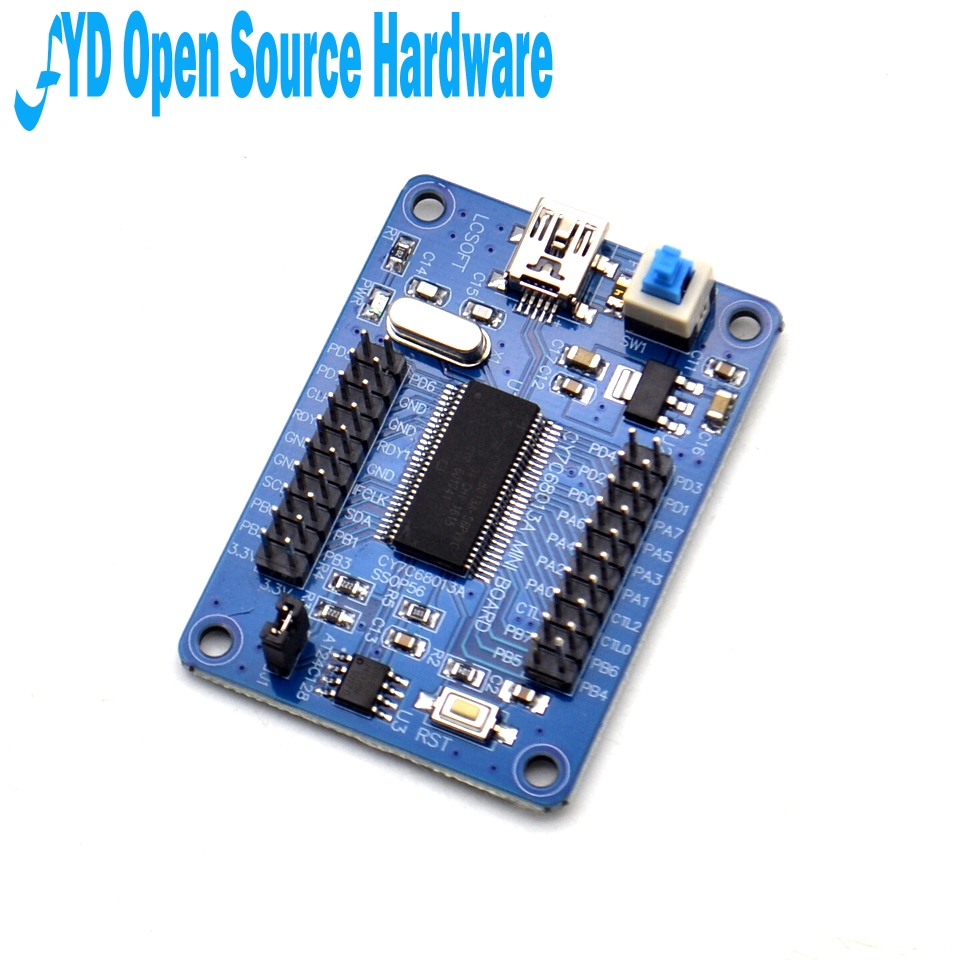 1pcs EZ USB FX2LP CY7C68013A USB logic analyzer core board+Source Code-in Integrated Circuits from Electronic Components & Supplies