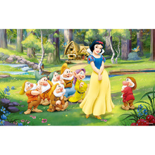 Customize Vinyl Photography Background Princesses Snow White Newborn Birthday Party Children Backdrops for Photo Studio S-2712