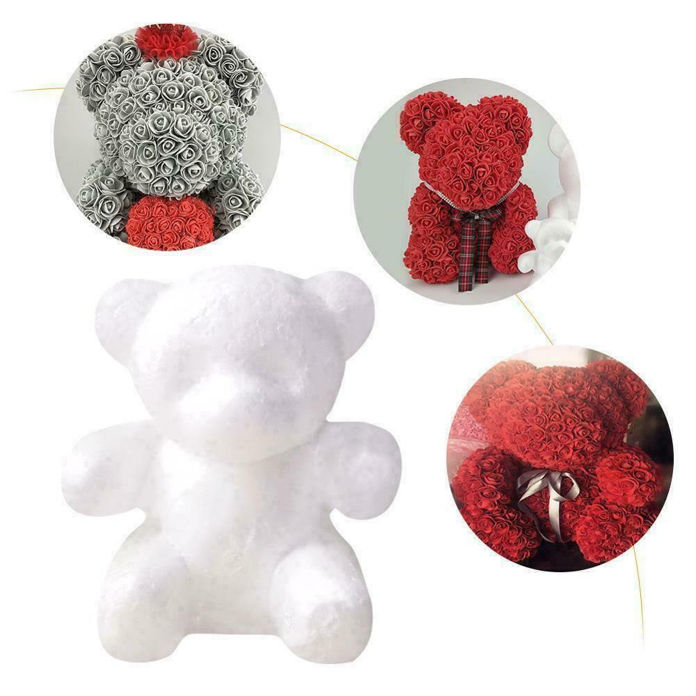 DIY Foam Bear Rose Bear Artificial Flowers flores fake flowers Valentine's Day Engagement Gifts Birthday Party Wedding Decor