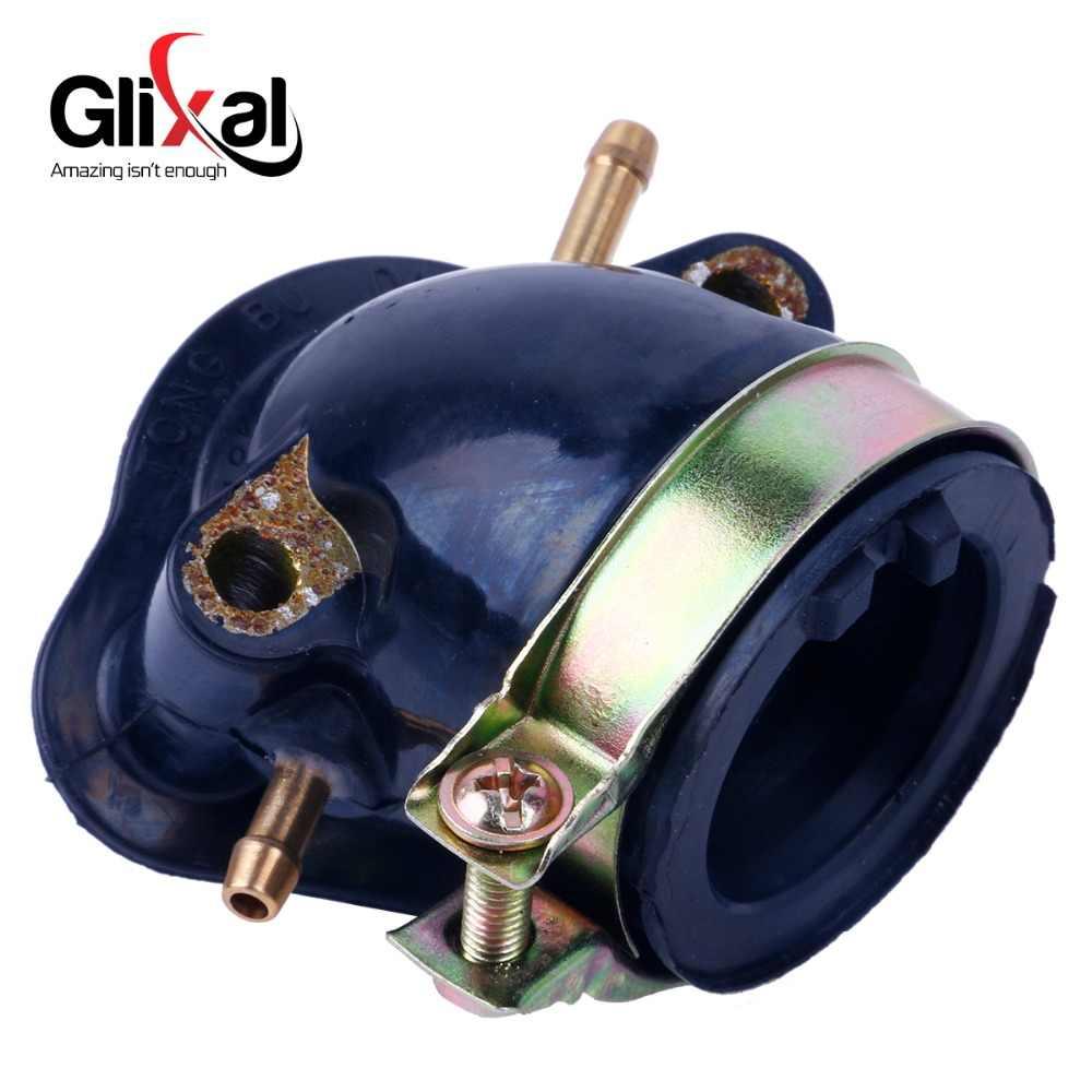 Glixal Emme Manifoldu GY6 125cc 150cc Çin Scooter Parçaları Emme 152QMI 157QMJ ATV Go-Kart Buggy (2 Vakum bağlantı noktası)