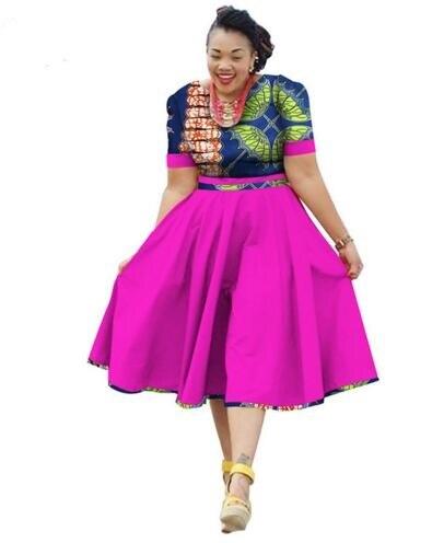 2018 new arrival fashion african women plus size dress M-6XL