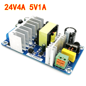 Image 3 - Lusya AC to DC Converter 110v 220v to DC 24V 4A 5V 1A 120W Dual Switching Power Supply Board power source board A1 020