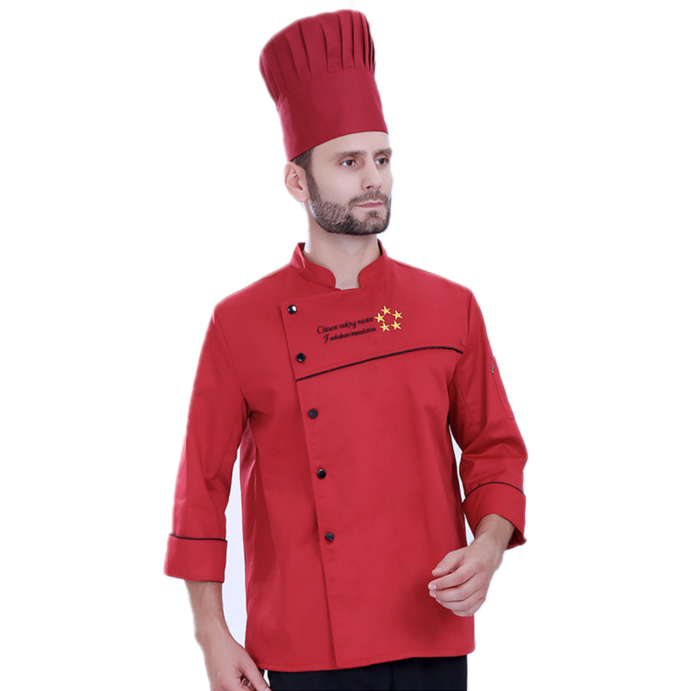 Autumn&Winter Long-Sleeved Breathable Chef's Jacket Hotel Restaurant Kitchen Men Women Coat Uniform Work Clothes Top