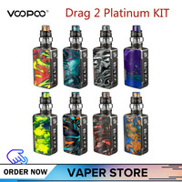 Original VOOPOO DRAG 2 Platinum Vape Kit With Drag 2 Mod 5ml Uforce T2 Tank Uforce U2 N3 177W Max Output Electronic Cigarette
