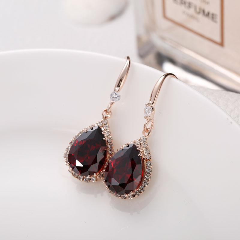 Manxiuni AAA Cubic Zirconia Drop örhängen med liten CZ Luxury - Märkessmycken - Foto 5