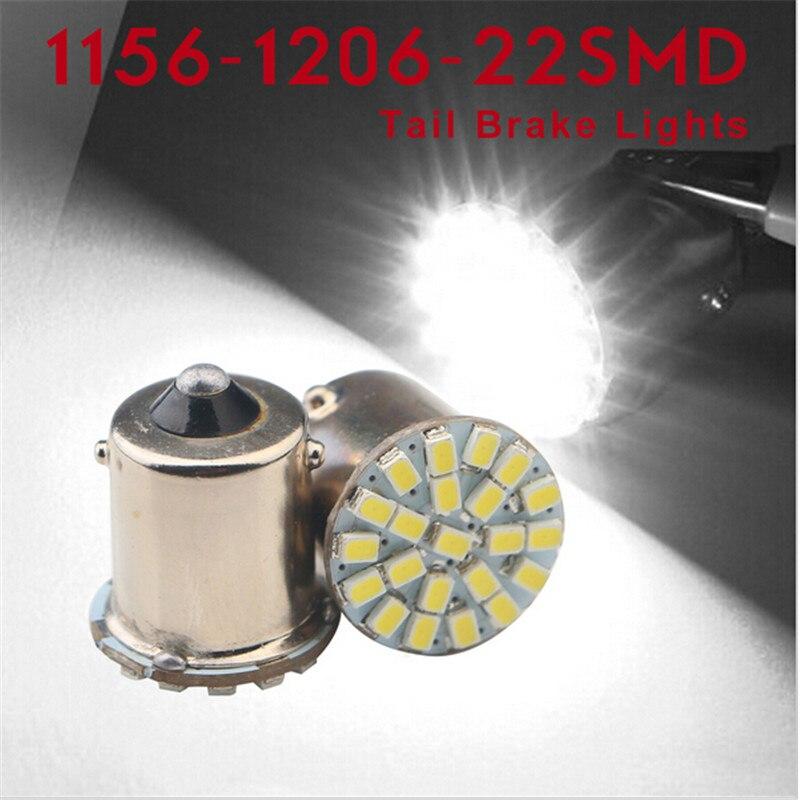6pcs 1156 P21W BA15S R10W 22 SMD 3014 LED DRL light Auto Reverse Tail Side Indicator Lights Stop Parking Lamp Bulb 12V original