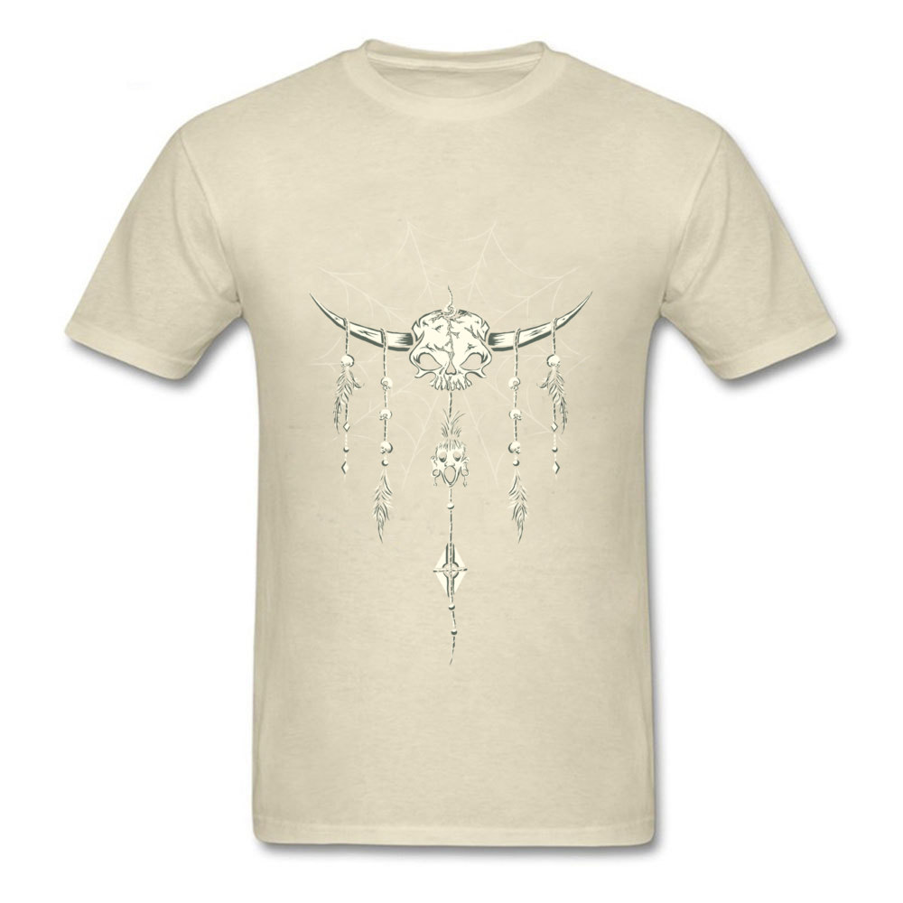 Nightmare Bringer Men Family Casual Tops T Shirt Round Collar Lovers Day Cotton Fabric T Shirt Party Short Sleeve Tops Tees Nightmare Bringer beige