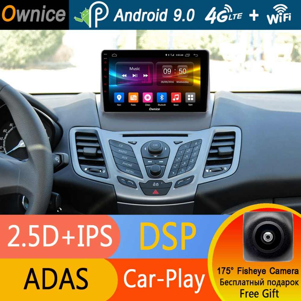 "9 ""IPS Android 9.0 8 Core 4G + 32G Auto DVD GPS Radio Voor Ford Fiesta 6 mk Hatchback 2009 2010 2012 2013 2014 2015 2016 CarPlay DSP"