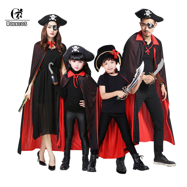 rolecos pirate halloween costume parent child costume for family azrael death cosplay witch halloween pumkin