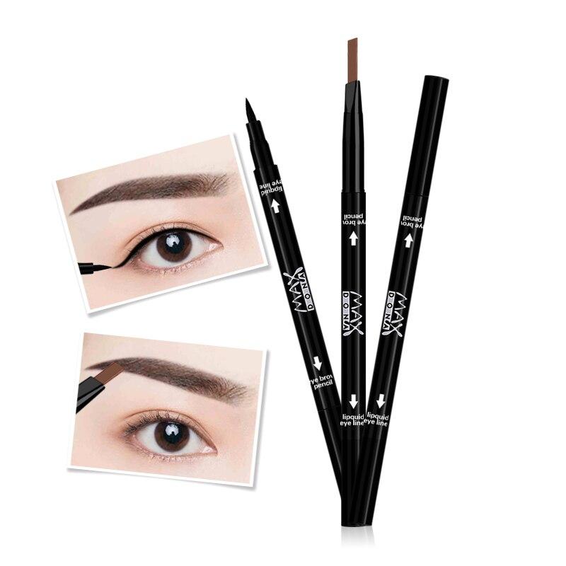 Естественно дважды класса мульти-Цвет макияж глаз инструменты Водонепроницаемый карандаши для бровей Красота длительный чёрный; коричнев...