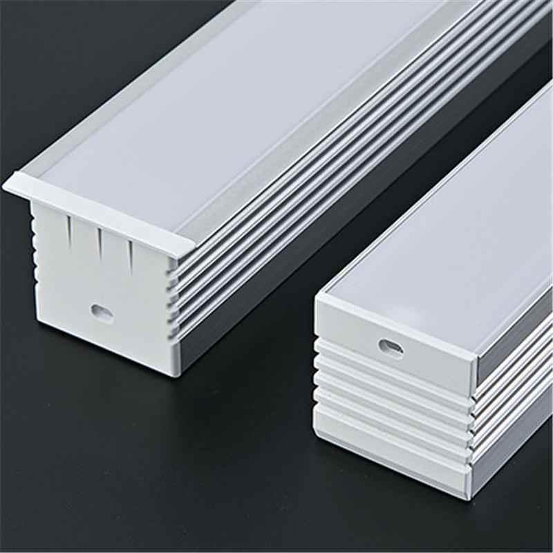 CLAITE 50 см Новый U алюминиевый профиль для светодиодной ленты светодиодный полосатый свет для бара комнатный светильник кухонные люстры 35 мм в ширину