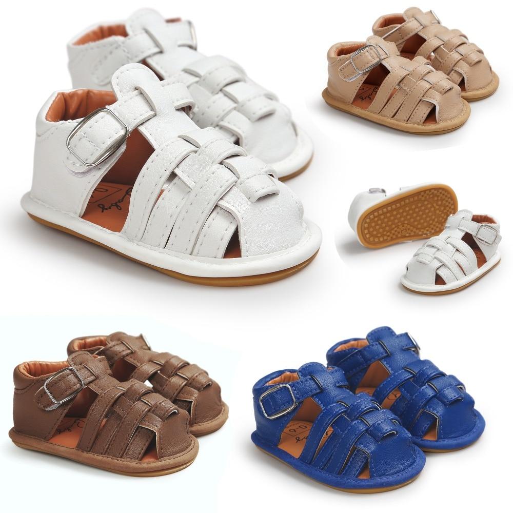 2017 התינוק moccasins ילדים סנדלים sandalias para bebe בנות פעוט סנדלים הילד גומי נגד להחליק הנערה הקיץ הנעליים prewalker