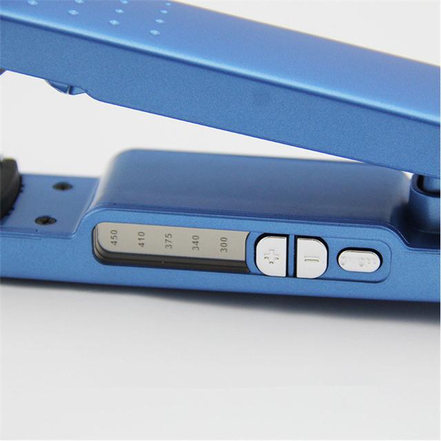 Plancha de pelo profesional Nano titanio 450F temperatura plancha de pelo rápido
