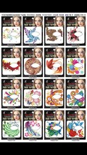 Exclusive 35 Styles Party Makeup Eye Face Tattoo Waterproof Disposable Eyeshadow Sticker