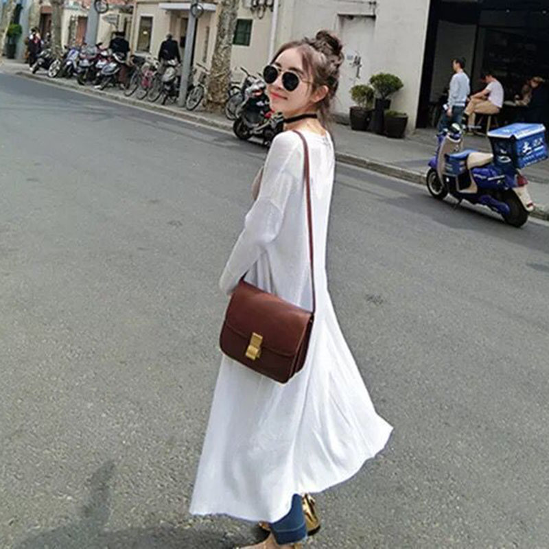 Shawl Sun-Protective-Clothing Spring Knit Long Fashion Women Summer Casual Girl Solid